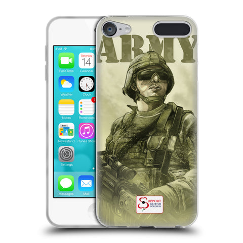 Support British Soldiers Sbs Official British Troops Soft Gel Case for Apple iPod Touch 6G 6th Gen