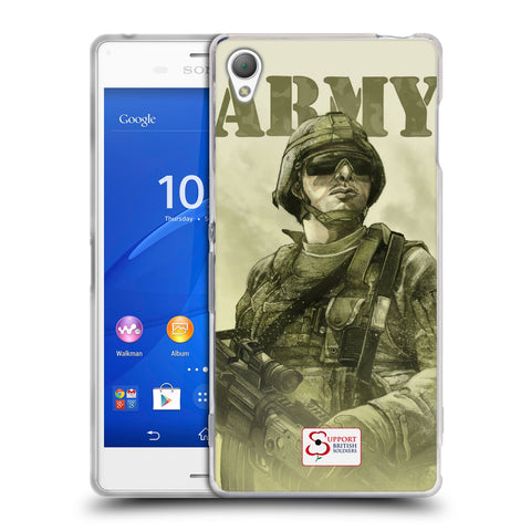 Support British Soldiers Sbs Official British Troops Soft Gel Case for Sony Xperia Z3