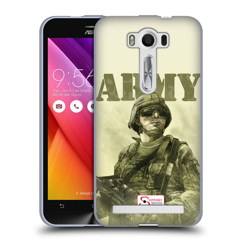 Support British Soldiers Sbs Official British Troops Soft Gel Case for Asus Zenfone 2 Laser ZE500