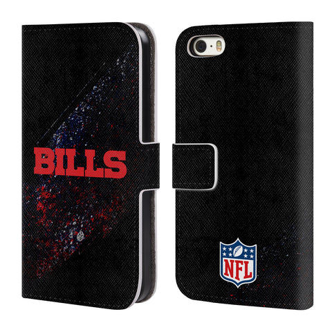 Official NFL Buffalo Bills Logo Leather Book Wallet Case Cover For Apple  iPhone 5 5S SE c55cbb423f200