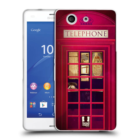 HEAD CASE DESIGNS TELEPHONE BOX SOFT GEL CASE FOR SONY XPERIA Z3 COMPACT