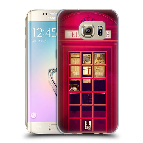 HEAD CASE DESIGNS TELEPHONE BOX SOFT GEL CASE FOR SAMSUNG GALAXY S7 EDGE