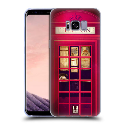 HEAD CASE DESIGNS TELEPHONE BOX SOFT GEL CASE FOR SAMSUNG GALAXY S8+ S8 PLUS