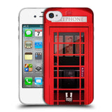 HEAD CASE DESIGNS TELEPHONE BOX SOFT GEL CASE FOR APPLE IPHONE 4 4S