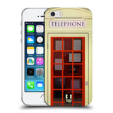 HEAD CASE DESIGNS TELEPHONE BOX SOFT GEL CASE FOR APPLE IPHONE 5 5S SE