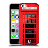 HEAD CASE DESIGNS TELEPHONE BOX SOFT GEL CASE FOR APPLE IPHONE 5C