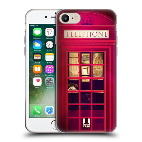 HEAD CASE DESIGNS TELEPHONE BOX SOFT GEL CASE FOR APPLE IPHONE 7