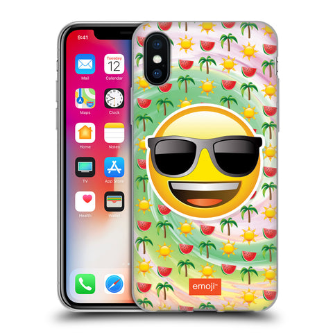 Official emoji® Smileys Soft Gel Case for Apple iPhone X / iPhone XS