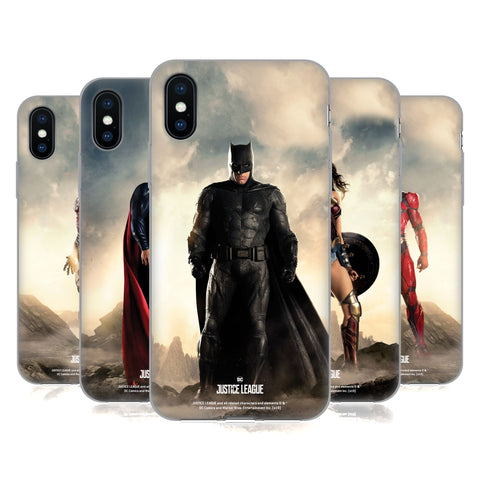 Justice League Movie Character Posters Soft Gel Case for Apple iPhone 7 / iPhone 8