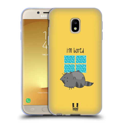 HEAD CASE DESIGNS WILBUR THE CAT SOFT GEL CASE FOR SAMSUNG GALAXY J3 (2017)