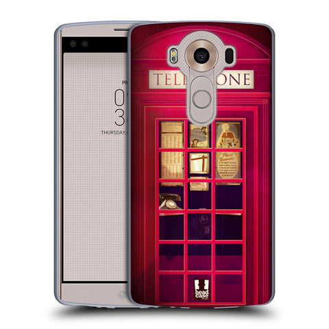 HEAD CASE DESIGNS TELEPHONE BOX SOFT GEL CASE FOR LG V10