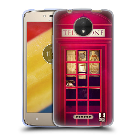 HEAD CASE DESIGNS TELEPHONE BOX SOFT GEL CASE FOR MOTOROLA MOTO C