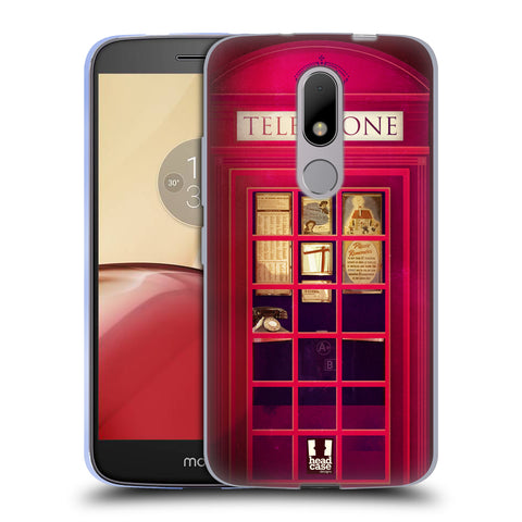 HEAD CASE DESIGNS TELEPHONE BOX SOFT GEL CASE FOR MOTOROLA MOTO M