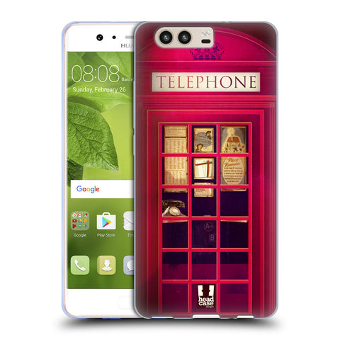 HEAD CASE DESIGNS TELEPHONE BOX SOFT GEL CASE FOR HUAWEI P10