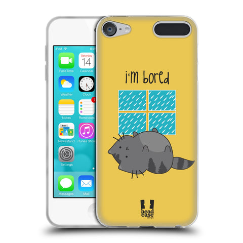 HEAD CASE DESIGNS WILBUR THE CAT SOFT GEL CASE FOR APPLE IPOD TOUCH 6G