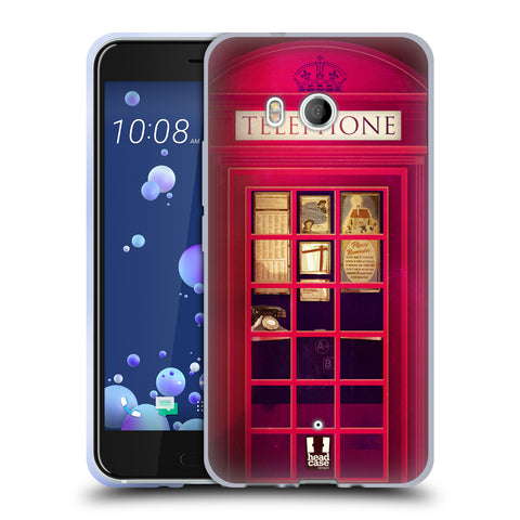 HEAD CASE DESIGNS TELEPHONE BOX SOFT GEL CASE FOR HTC U11 / DUAL