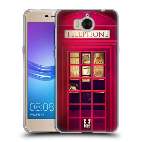 HEAD CASE DESIGNS TELEPHONE BOX SOFT GEL CASE FOR HUAWEI Y5 (2017)
