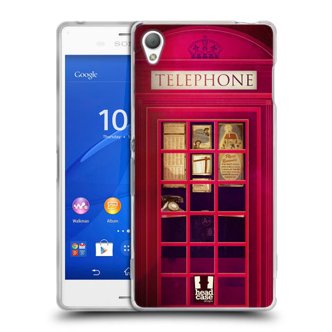HEAD CASE DESIGNS TELEPHONE BOX SOFT GEL CASE FOR SONY XPERIA Z3