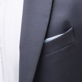 Textured weave suit Breast pocket detail