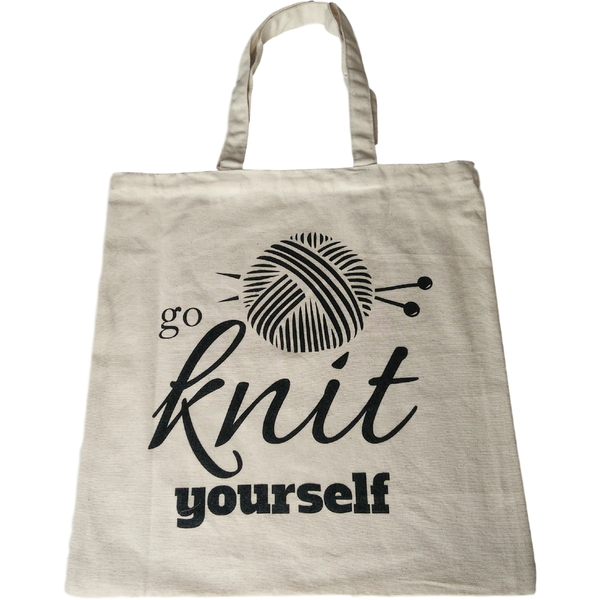 Go Knit Yourself XL Cotton Tote Bag