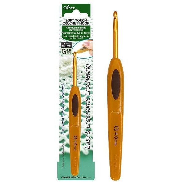 Clover Soft Touch Crochet Hook - 4mm