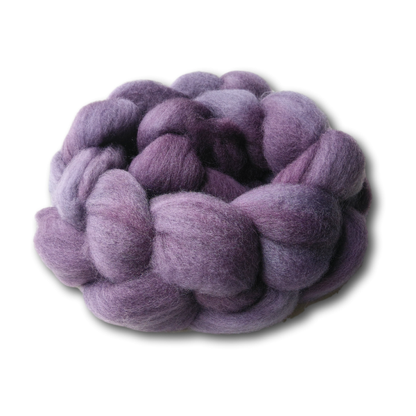 Castledale Hand Dyed Combed Tops 100g - Grapes of Wrath