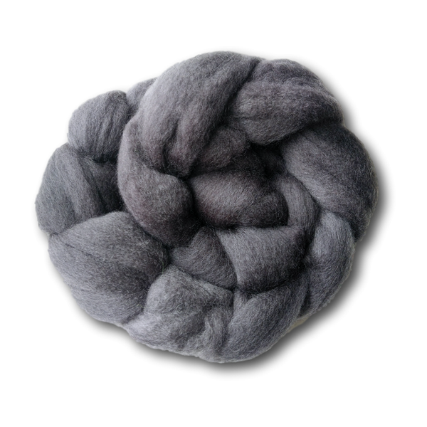 Castledale Hand Dyed Combed Tops 100g - Charcoal