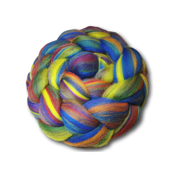 Rainbow Merino Combed Tops 100g