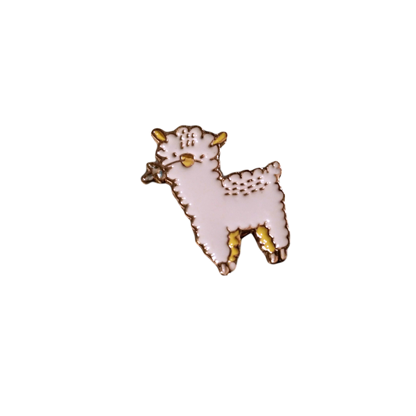 Brooch Pin - Andy the Hungry Alpaca