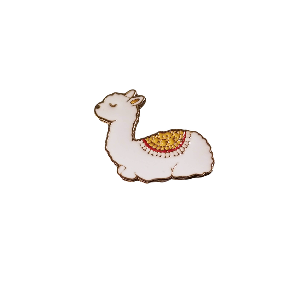 Brooch Pin - Crystal the Cria Alpaca