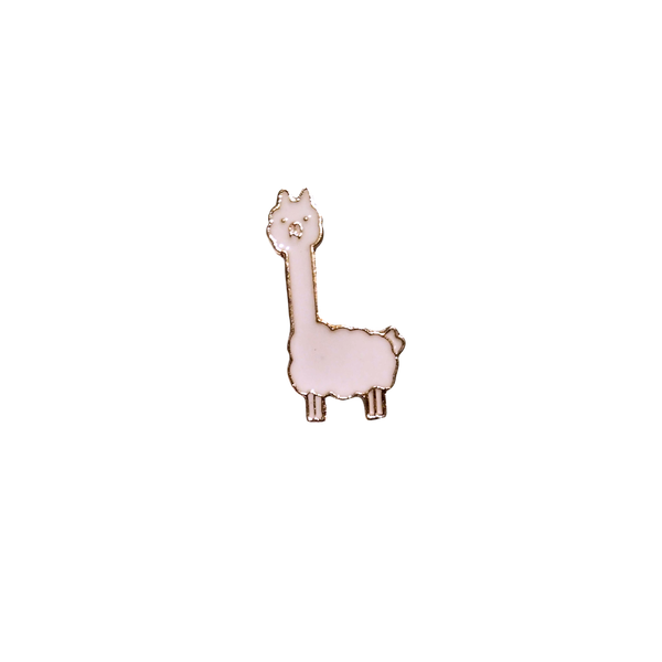 Brooch Pin - Tilly the Tall Alpaca