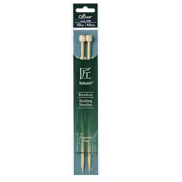 Clover Takumi Bamboo Knitting Needles Tapered Tip - 23cm 4.5mm