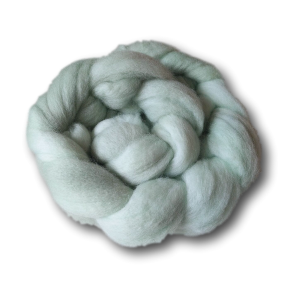 Castledale Hand Dyed Combed Tops 100g - Hint of Mint