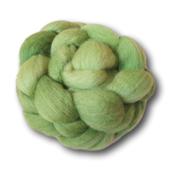 Castledale Hand Dyed Combed Tops 100g - Clover