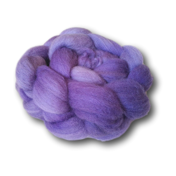 Castledale Hand Dyed Combed Tops 100g - Electric Purple