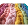 Castledale Hand Dyed Combed Tops 100g - Peach