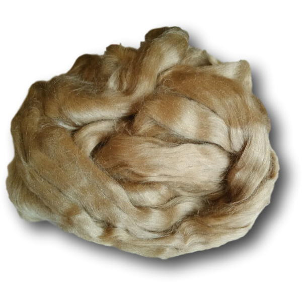 Dark Gold Tussah Silk Sliver 100g -
