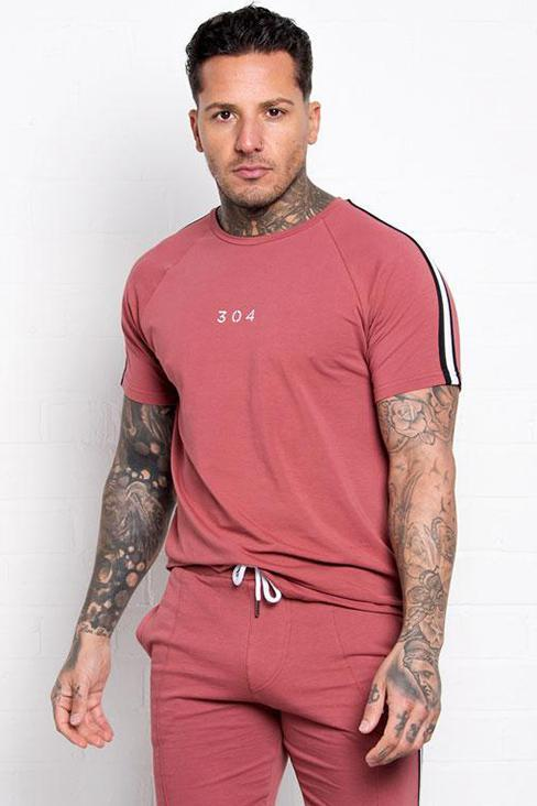 304 CLOTHING T-SHIRTS S 304 CLOTHING BURGUNDY SANE T-SHIRT