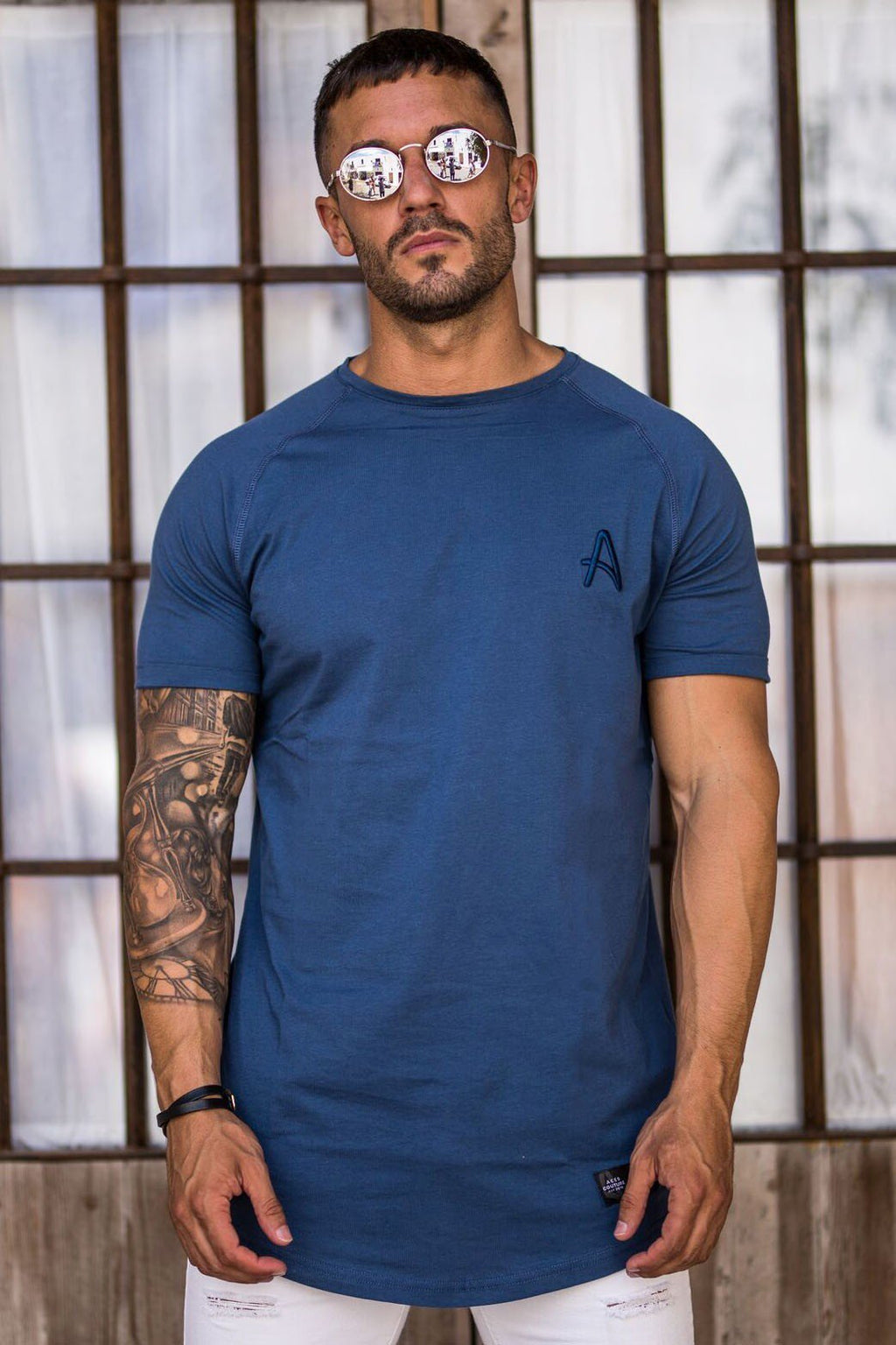 ACES COUTURE T-SHIRTS ACES COUTURE - CURVED HEM TEE (NAVY)