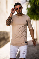ACES COUTURE T-SHIRTS ACES COUTURE - DROP SHOULDER TEE (STONE)