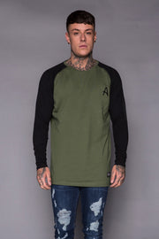 ACES COUTURE T-SHIRTS ACES COUTURE - L/S TEE (KHAKI W. BLACK)