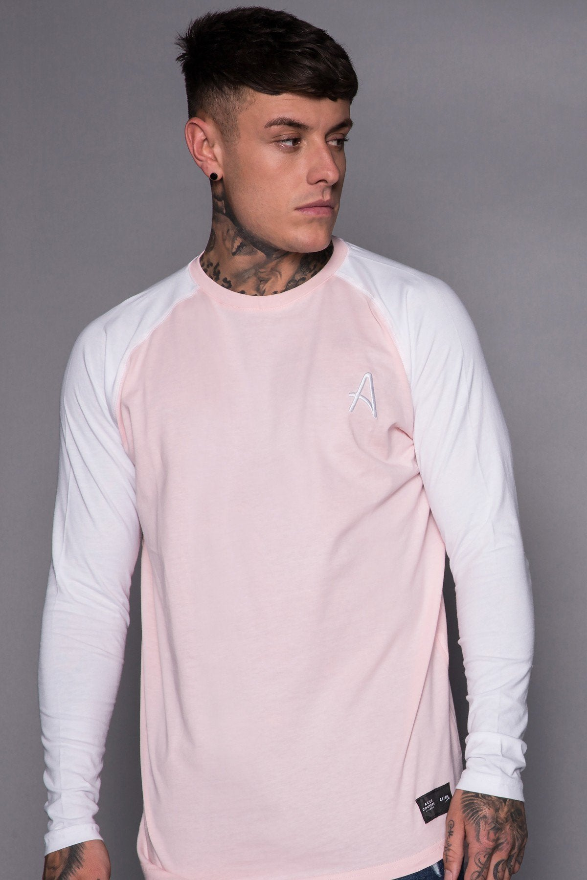 ACES COUTURE T-SHIRTS ACES COUTURE - L/S TEE (PINK / WHITE)