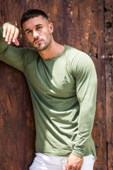 ACES COUTURE T-SHIRTS ACES COUTURE - SUEDE LONG SLEEVE TEE (KHAKI)