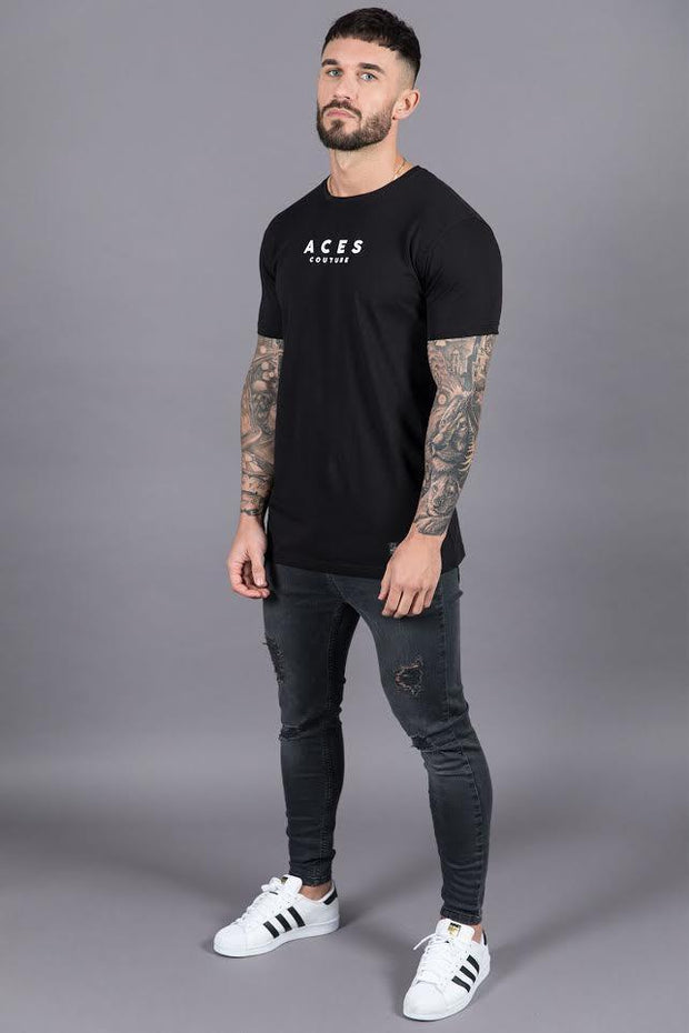 ACES COUTURE T-SHIRTS 'FEAR KILLS' TEE – BLACK
