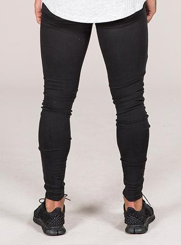 EMULATE JEANS BLACK MARQUEE RIPPED JEANS