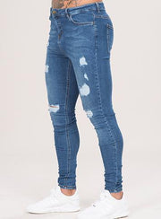 EMULATE JEANS DARK BLUE MARQUEE RIPPED JEANS