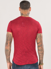 EMULATE T-SHIRTS BYRON SLUB RIO RED TEE