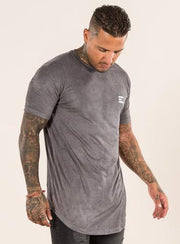EMULATE T-SHIRTS OLVERO GREY SUEDE TEE