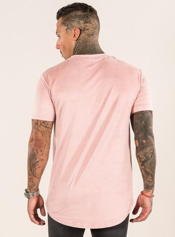 EMULATE T-SHIRTS OLVERO PINK SUEDE TEE