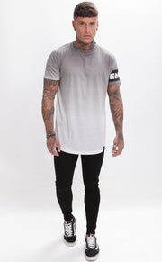 ENUKI LONDON T-SHIRTS ENUKI - Sapporo Dip Dye T-Shirt - (Grey/White)
